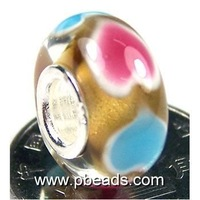 wholesale multicolor flower murano beads PMB0031