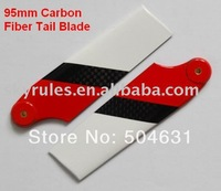wholesales 95mm carbon fiber tail blade for  T-rex R/C helicopter