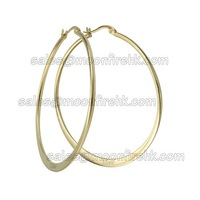 55mm 316L Stainless steel big hook earrings New fashion designed gold/silver/black tone available