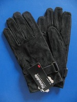 Pig suede Men's real leather gloves winter & warm gloves Genuine