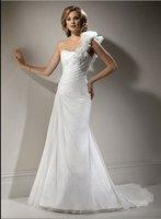 2011 New Style Elegant Sexy  A-line  Floor-length Organza Wedding Dress(Free shipping)
