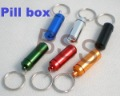 Free shipping 10pcs/lot Micro 6 colors Pill box case Cache Container Geocache Geocaching Key rings keychain holder vial BS-C01