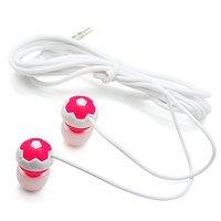 Free Shipping 20pcs/lot 3.5mm football shape in ear earphone for mp4 mp3 notebook/ colorful in-ear earphone