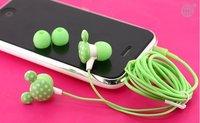 EMS Free Shipping 50pcs/lot 3.5mm mickey in ear earphone for mp4 mp3 laptop/ colorful in-ear earphone