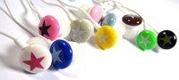 Free Shipping 20pcs/lot 3.5mm star candy in ear earphone for mp4 mp3 laptop/ colorful in-ear earphone