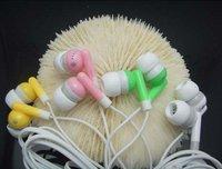 Free Shipping 20pcs/lot 3.5mm in ear earphone for mp4 mp3 laptop/ colorful in-ear earphone