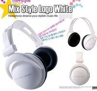 MOQ: 1pcs Free Shipping retail 3.5mm mix style headphones for mp3 mp4 notebook/ fashion folding headphones.