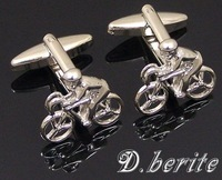 Classic Brand New Pair of Cufflinks Cuff Links Bike Silver Gift Box CJ116
