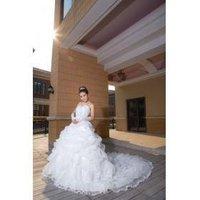 The new luxury boutique Korean wedding dress big tail