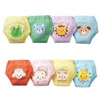 Wholesale--96pcs 8 designs/waterproof cotton potty training pants/4 layers diaper pants/Baby underwear