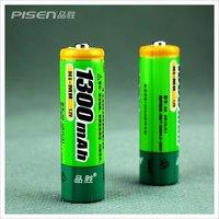 Pisen AA Ni-MH Rechargeable Batteries 1300mAh Battery Genuine Brand New 20pcs/lot