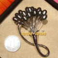 FREE SHIPPING Wholesale 6 PCS Fashion Freshwater Pearl Brooch Pins