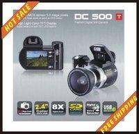 Free shipping--16MP POCKET super-thin 8X Digital Zoom DC500-T Digital Video Camera