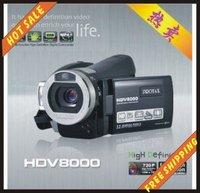 Free shipping--16MP POCKET super-thin 8X Digital Zoom HDV8000 DV Digital Video Camera