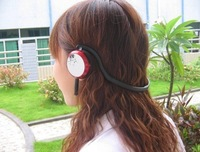Free Shipping 2.4G digital wireless stereo headphone with removable mini mic/ back-hook wireless headset