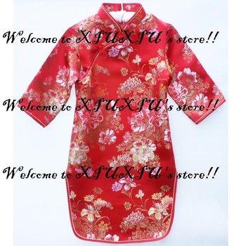01 qipao girls' dresses chinese dress baby dresses cheongsam dress chinese traditional costume