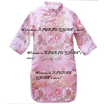 03 qipao girls' dresses chinese dress baby dresses cheongsam dress chinese traditional costume