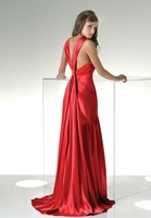 free shipping sexy stunning voile embroider bead satin/voile/chiffon/lace evening dress all size color free ED-12039