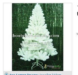 1pcs/lot 210cm artificial christmas tree flocked free shipping(China (Mainland))