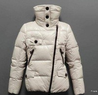 Discount Free shipping 2010 Name brand down winter women&amp;#39;s down jacket Ivory color for Christmas S M L