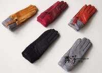 free shipping new women's extended warm flocking skins in gloves 10 pairs