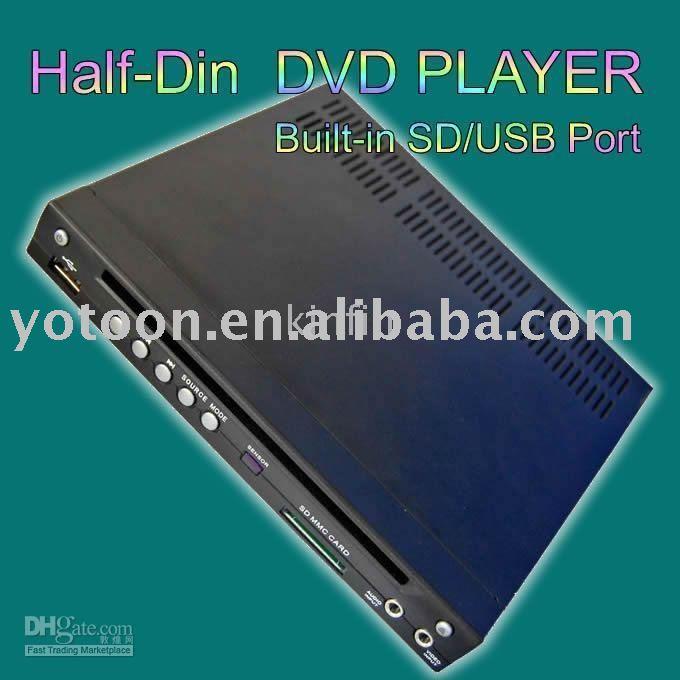 China Car Half DIN/Singel Din In-Dash DIVX/MP3/CD/DVD Player+USB/SD Slot CAR 1/2 DIN DVD ShenZhen Yotoon(China (Mainland))