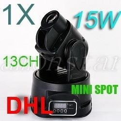 LED RGB Party DJ Disco Light MOVING HEAD 15W SPOT 13DMX, For USA buyers Only(China (Mainland))
