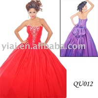 2011 stunning  bright  ball gown QU012