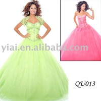 2011 stunning  bright  ball gown QU013