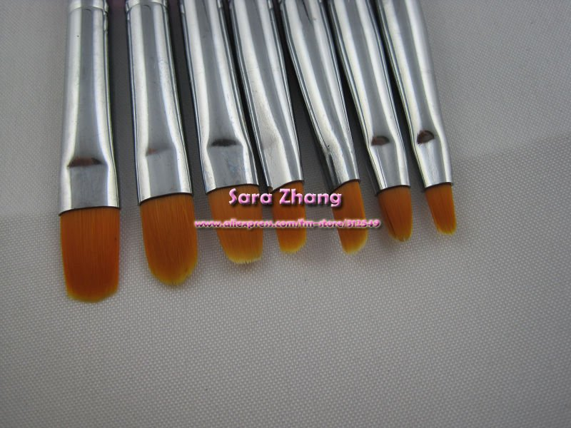 Frees Express-15pcs Nail Art Design Brushes Gel Set Painting Draw Pen Polish White Handle wholesales