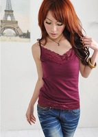 fast shipping Wholesale(4pcs/lot)100% Cotton Women's Tank Top
