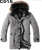 Wholesale 100% Genuine Coat Men&amp;#39;s Down Coats Long Thick Winter Feather dress Men&amp;#39;s Trench Coats