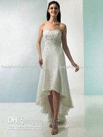 2011 New Designer T length Embroider wedding dress272 free shipping