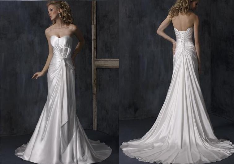 Elegant bridal wedding dress wedding gown w free shipping customer