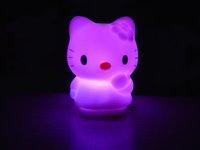 Colorful kt Cat Night LED Light / Colorful kt Cat Night Light /Seven-color change 50pcs/lot Free shipping