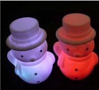 Colorful Christmas Snowman LED Lamp 30pcs/lot Free shipping