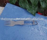 Titanium outdoors goods--Titanium Flatwares--Titanium Folding Fork