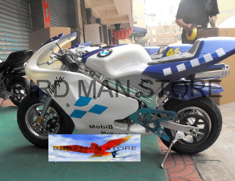 Pocket bike 49cc Mini Gas Powered Motorbike 2 stroke factory direct 100% warranty(China (Mainland))