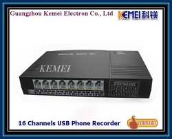 Business phones system recording by 16 channels USB telephone recording box(China (Mainland))