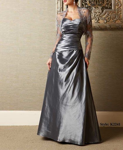 Lhui 12083 discount fashion lace small coat design satin dress accept mother dresses,evening dresses(China (Mainland))