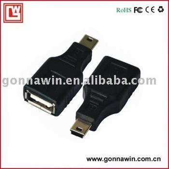 FREE SHIPPING/USB F TO mini 5pin CONVERTER