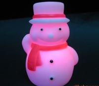 Free Shipping/ Novelty Product/ 20pcs/lot color changing snow man led night light