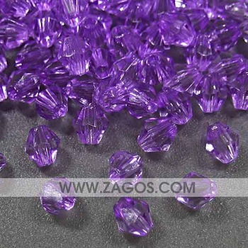plastic acrylic beads, Faceted, made of acrylic, Purple, 4mm long, 3mm wide, 3mm thick, with one hole,AR0100