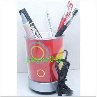 Free shipping+HUB USB Mini Speaker/ pen case Speaker with LED lights/ MP3,computer speaker 10pcs