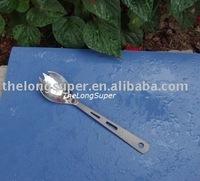 Titanium outdoors goods--Titanium Flatwares--Titanium Forklike Spoon  A017