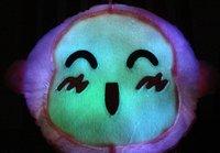 EMS Free Shipping 10pcs/lot  lovely cartoon  monkey LED light pillow/ seven color LED pillow/