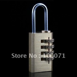 4 Digit Metal Combination Lock Password Number Security Plus Padlock [3293|01|01](China (Mainland))