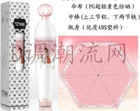 EMS free shipping 6pcs/lot perfume bottle umbrella with pink color