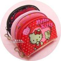 free shipping Cheap wholesale beautiful hello kitty  Purse 10pc colorand pink