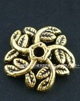 Free shipping tibet silver Golden Bead Caps
